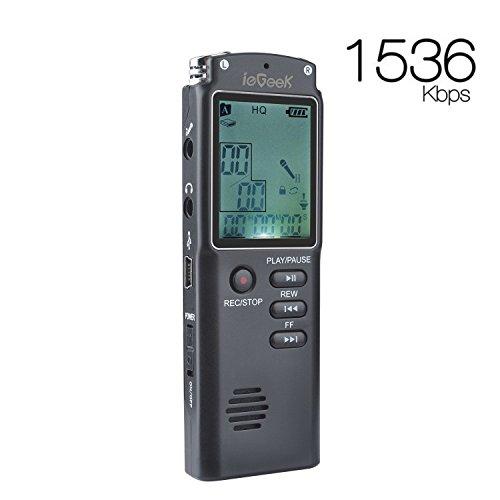 ieGeek Dictaphone Enregistreur Numérique 16Go,...
