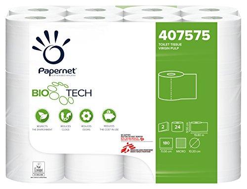 Papernet 407575 Bio Tech Toilettenpapier, 2 Flor, 19,8 Meter x 24 Rollen pro Packung