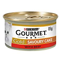 Made with tender pieces with Beef Complete pet food for adult cats 100% complete and balanced nutritional pet food for adult cats (aged 1 to 7) Cooked with care for preservation of taste Served in 85g can to keep every meal fresh and convenient. Pack...