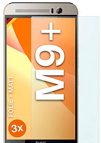 moex Schutzfolie matt kompatibel mit HTC One M9 Plus - Folie gegen Reflexionen, Anti Reflex Bildschirmschutz, Matte Bildschirmfolie - 3X Stück