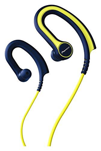 パイオニア BASS HEADシリーズ スポーツイヤホン カナル型/防滴仕様/リモコン・マイク付/耳掛け式 イエロー SE-E711T-Y