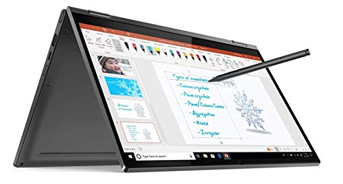 Lenovo Yoga C640 Notebook Convertibile, Display Touch 13.3' Full HD IPS, Processore Intel Core i7-10510U, 512 GB SSD, RAM 16 GB, Fingerprint, Lenovo Active Pen, Windows 10, Iron Grey