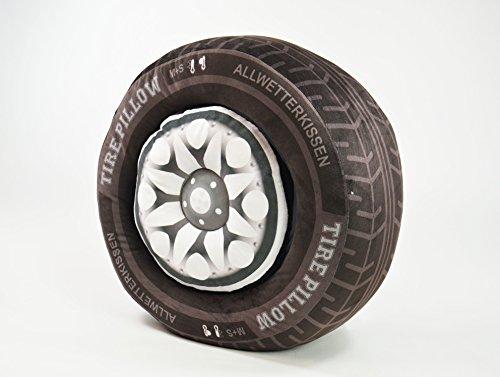 Preisvergleich Produktbild BUSDUGA - Reifenkissen 2 teilig (Reifen und Felge) als Kissen,  2 Größen zur Wahl. (41 x 15 cm)