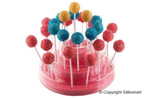 Comprare Web Présentoir pour gâteaux Pops, Easy Pops, Finger sur bâton Easy Cream Silikomart Couleur rose Cake Design Lollipop