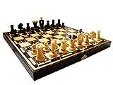 Amazinggirl Scacchi Scacchiera in Legno - Professionale Chess, Scacchiere Set Gioco per Adulti Bambini 36 x 36 cm Scacchi di Re