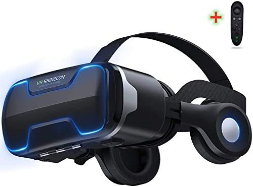 LONGLU VR Headset Compatible for iPhone and Android Phone Upgrade VR Glasses With Blue Light product image