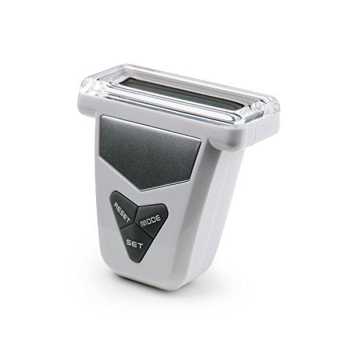 Incutex Schrittzähler, Stepcounter, Schrittmesser, Entfernungsmesser, Pedometer mit LCD Display, weiß