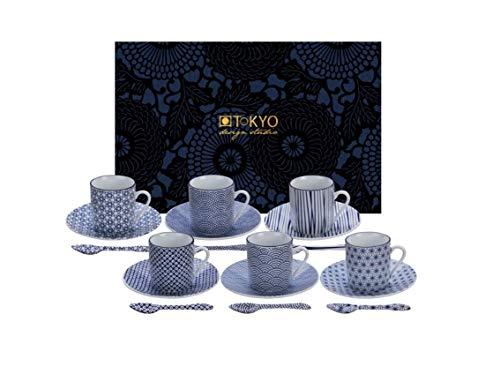 Tokyo design Studio, Nippon 18pezzi blu scuro espresso set (80ML)
