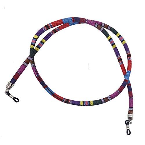 MagiDeal Cinturino Corda Cordini Catena Cinghie Supporto per Occhiali da Sole - Viola, 70cm