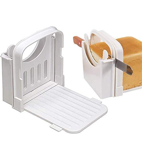 Rebanadora de pan Rebanadora de pan manual de pan casero Plegable y ajustable Espesor Ahorro de espacio Gadget de cocina
