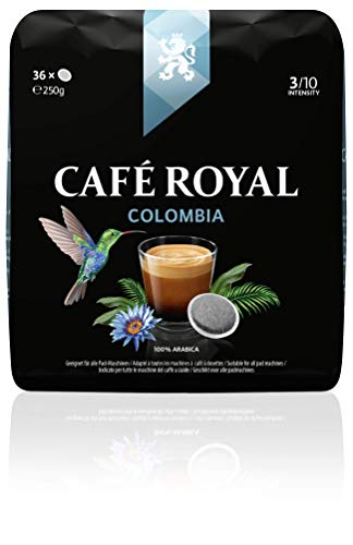 Café Royal Single Origin Colombia 36 kompatible Kaffeepads für Senseo ®*, Intensität 4/10, 1er Pack (1 x 36 Kaffee-Pads)