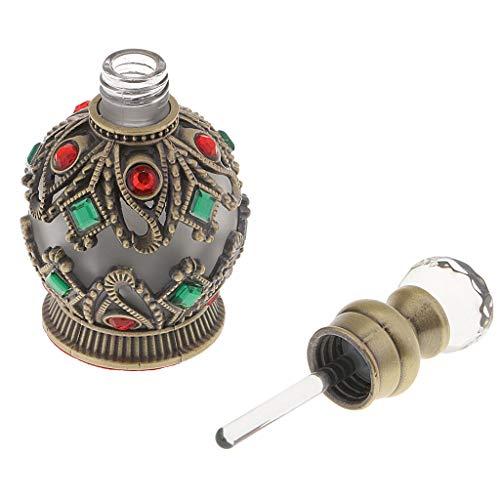 F Fityle Caja de Botellas de Perfume Vacías Antiguas de 15 ML de Aceite Esencial para Mujer Amiga Regalo