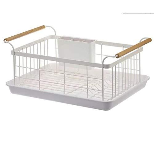 ZIHUAD Wand Kuchenregal,Küchenregal-Regale, Edelstahl-Abtropfgestell Multifunktions-Küchenregal Home Cabinet Dish Drain Rack, Küchenregal Basket