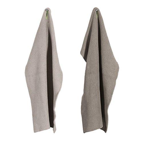 Pad - MONTE - Geschirrtuch - Küchentuch - Trockentuch - sand / beige - 2er Set 30 x 45 cm