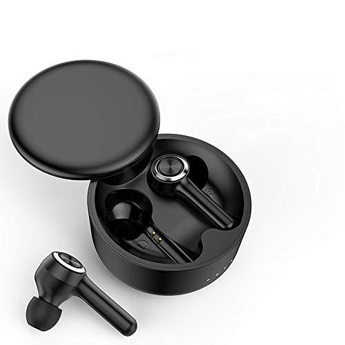 Muff Inalámbrico De Bluetooth 5.0 - Auriculares Bluetooth De Bajos Profundos Mejorados Con Tacto Inteligente, Micrófono Doble, Emparejamiento Automático, Impermeable IPX 5 Earplugs Deportivos 24 * 13i