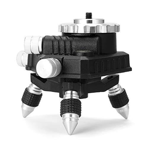 Trípode para láseres y niveles KKmoon Soporte de plataforma de elevación de nivel láser de aleación de aluminio, soporte de elevación de máquina de nivelación, altura ajustable de 62 mm