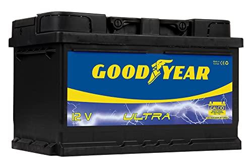 Goodyear GODF375 - Bateria de coche ULTRA 12 V 75 Ah 680 A (+D), 70 Ah 550 A