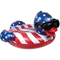 GAME 51418-BB Stars & Stripes Derby Duck Pool Float (Large) (Multicolor)