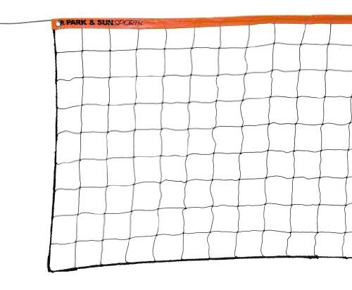 Park & Sun Sports Recreational-Verordnung Größe Volleyball Net mit Stahlkabel Top, Orange