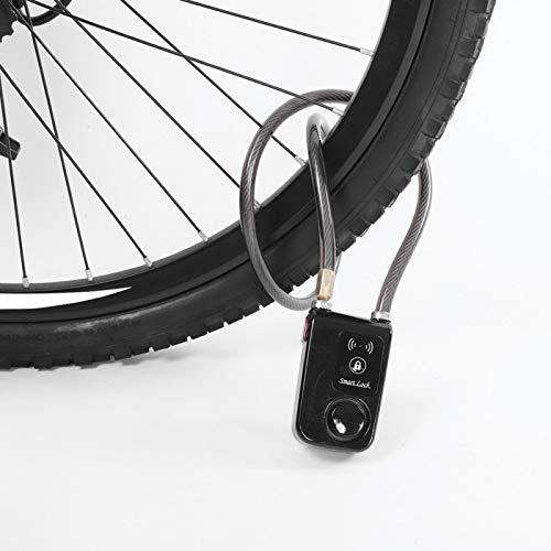 Gerioie Cerradura de Bicicleta, Cerradura, Seguridad sin Llave Cerradura de Bicicleta Alarma antirrobo para Bicicleta de Carretera Bicicleta de montaña