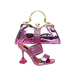 Rosy Red Party Shoe and Bag Sets