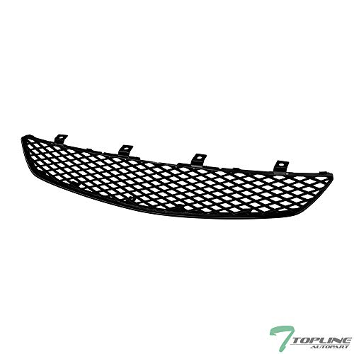 Topline Autopart Black T-R Mesh Front Hood Bumper Grill Grille ABS For 02-05 Honda Civic Si 3 Door Hatchback EP3