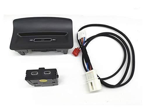 HUILING September Department Store Adaptador USB con Socket USB ARMERST Ajuste para Skoda KODIAQ KAROQ 5QD 035 726 L (Color : Type c)