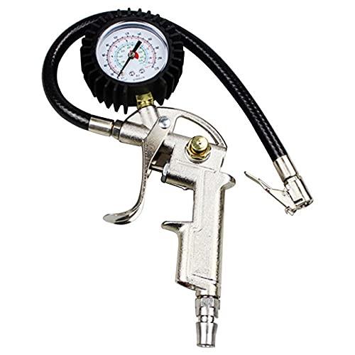 ZHFEN Medidor de presión de neumáticos AUTOMÁTICOS para Motor DE Coche SUV Bombas de inflador Herramientas de reparación de neumáticos Tipo de Pistola de presión para compresor de Aire Duradero