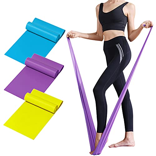 CoutureBridal Resistance Bands,Professional Exercise Bands Long Natural Latex Elastic Bands, Perfect for Strength Training,Physical Therapy,Yoga,Pilates,Stretching (Purple&Blue&Yellow)