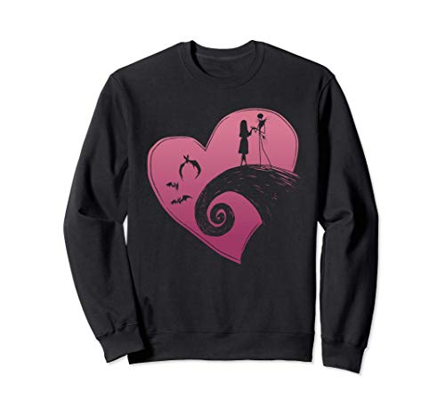 Disney The Nightmare Before Christmas Jack and Sally Heart Sudadera