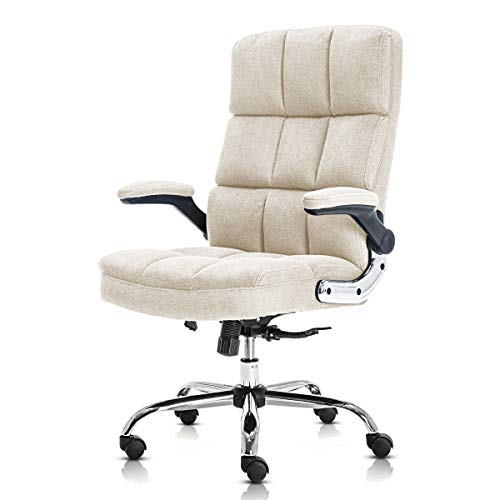 SP Velvet Office Chair Adjustable Tilt Angle and Flip-up Arms...
