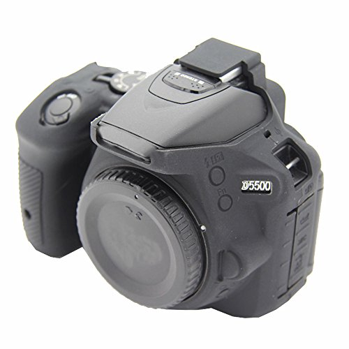 Yunchenghe D5500/5600 Caja de la Vivienda de la cámara, Cubierta de la Caja de la cámara de la Goma de Silicona Profesional Desmontable Protectora, para Nikon D5500/5600 - Negro