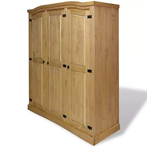 vidaXL Wardrobe,3 Doors,Closet Wardrobe in Closet Armoire Wardrobe Closet Bedroom Armoire Room Closet with Doors Storage Organizer ,59.7
