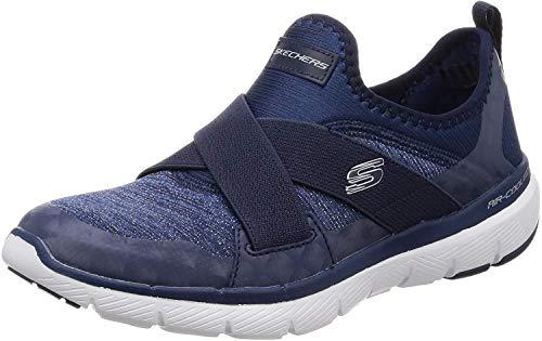 Skechers Flex Appeal 3.0-Finest Hour, Zapatillas sin Cordones Mujer, Azul (Navy Nvy), 38 EU