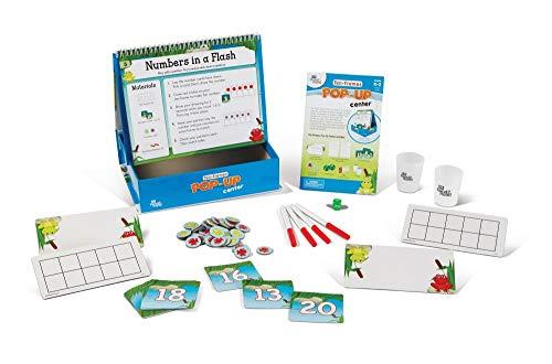 hand2mind Ten Frame Pop-Up Learning Activity Center, Math Games for Kids Ages 5-8, Use Bingo Chips and Ten Frames for Counting, Counters for Kids Math Manipulatives, Kindergarten Homeschool Supplies