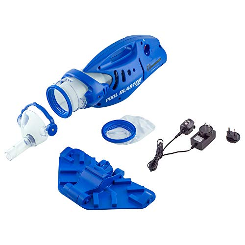 """POOL BLASTER Water Tech Max CG Cordless Rechargeable, Battery-Powered, Pool Cleaner with 12.75"""" Scrub Brush Head, Large Filter Bag, Ideal for In-Ground Pool and Above Ground Pools"""