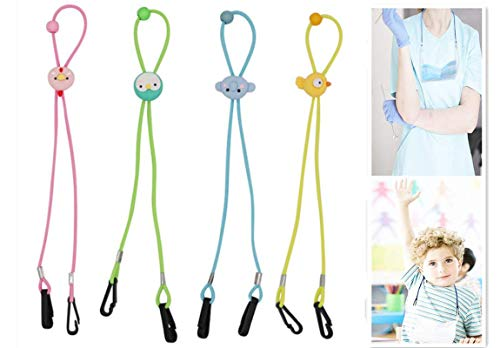 Lozeguyc Cute Adjustable Lanyard for Face Mask Cover Lightweight Fashion Flower Style Lanyard Strap Release Ear Pressure Around Neck Mask Holder Hangers for Adults Kids Doctors-Bird
