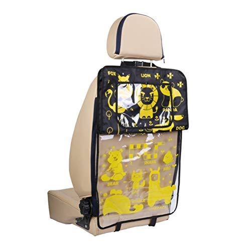 Auto-Schutz-Trittmatten - Wasserdichte Sitzschutz-Trittmatte Kindersitz-Organizer (2er-Pack)