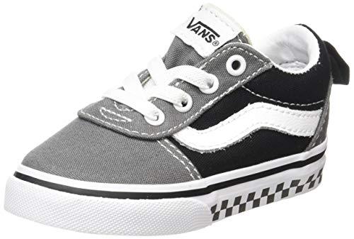 Vans Unisex Baby Ward Slip-ON Sneakers, Schwarz ((Canvas) Black/White 187), 26.5 EU