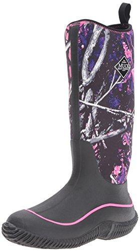 Muck Boots Hale Multi-Season Women's Rubber Boot, Black/Muddy Girl Camo, 7 M US