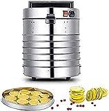 NKTJFUR Alimento deshidratador Alimento Máquina de deshidratador Profesional eléctrico Multi-Nivel Conserva de alimentos Carne o carne de res Mabetería Fruta y secadora de verduras con 5 bandejas apil