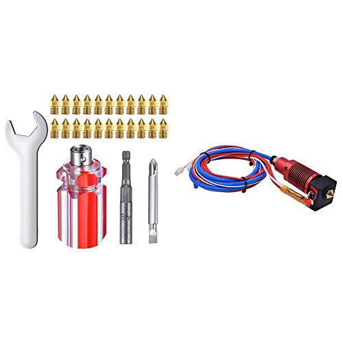 Milkvetch Extruder Nozzles 3D Printer Nozzles for MK8 Brass Nozzle with 3D Printer Parts 24V Assembled Extruder Hotend Kit