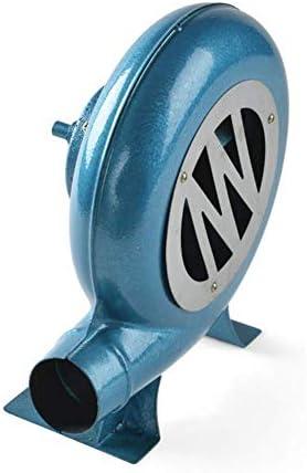 SY-Home Barbecue à manivelle avec Ventilateur Manuel et Ventilateur pour Barbecue - Briquet à Charbon - Bleu, 200w