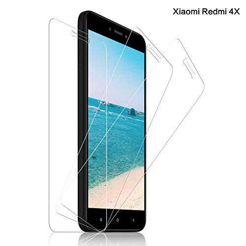 SNUNGPHIR® Cristal Templado Xiaomi Redmi 4X, [3-Pack] Protector Pantalla Xiaomi Redmi 4X Cristal Templado [2.5d Borde Redondo] [9H Dureza] [Alta Definición] [Anti-Arañazos] [Anti-Huella Digital]