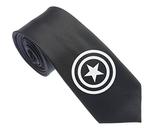 Captain America Logo Men's Tie
