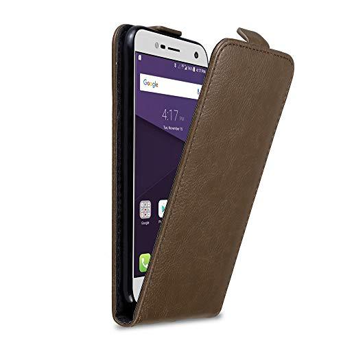 Cadorabo Hülle für ZTE Blade V8 Mini in Kaffee BRAUN - Handyhülle im Flip Design mit unsichtbarem Magnetverschluss - Hülle Cover Schutzhülle Etui Tasche Book Klapp Style