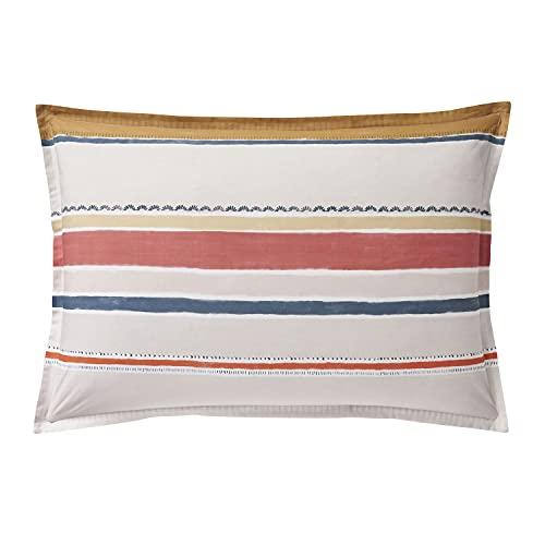 Funda de Almohada Estampada en percal de algodón, 50 x 75 cm, Color Blanco
