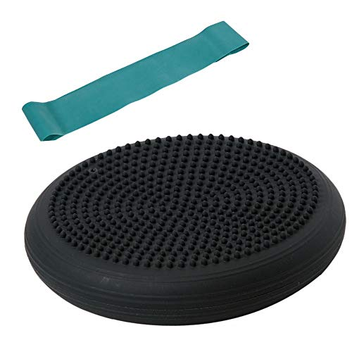 Togu Set Dynair Ballkissen Senso 33cm, schwarz und Theragym Loop Miniband mittel, grün