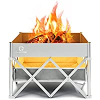 OT QOMOTOP 24 Inch  Instant Fire Pit with Heat Shield