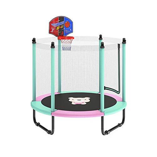 WXL Trampolín de 152,4 cm Mini trampolín Recinto de red Pad Rebounder Trampolines para niños, adultos al aire libre, ejercicio en el hogar, juguetes de salto, carga máxima 250 kg trampolín (color: B)